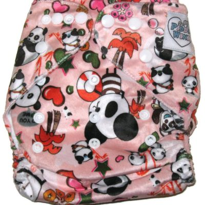 Pandamonium Polyester One-Size Pocket Cloth Diaper