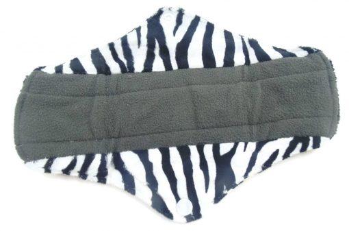Zebra Print Charcoal Bamboo Sanitary Pad