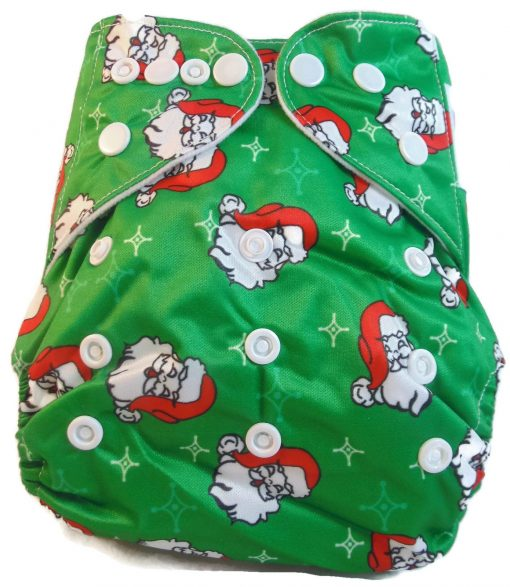 Here Comes Santa One Size Polyester Pocket Cloth Diaper