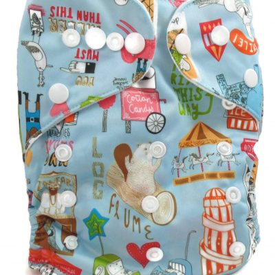 Amusement Park One Size Fits All Polyester Pocket Cloth Diaper