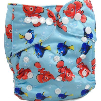 Finding Nemo One Size Fits All Polyester Pocket Cloth Diaper