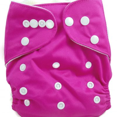 Fushia Purple One Size Fits All Polyester Pocket Cloth Diaper