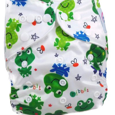 Kiss The Frog One Size Fits All Polyester Pocket Cloth Diaper