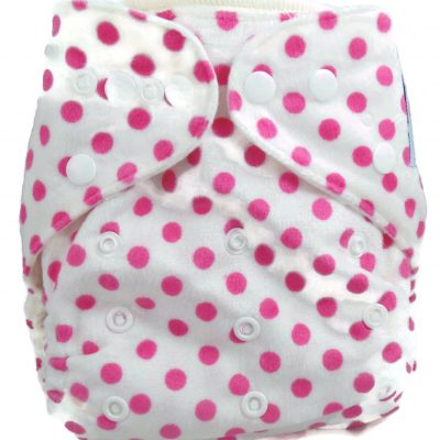 Lot A Dots One Size Fits all Polyester Pocket Cloth Diaper