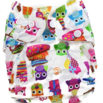 Birthday Owls Polyester Pocket Cloth Diaper