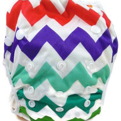 Rainbow Chevron Reusable Swim Diaper