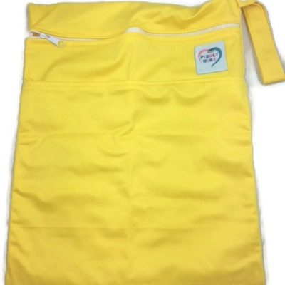 Lemon Yellow Antibacterial Wet Dry Bag