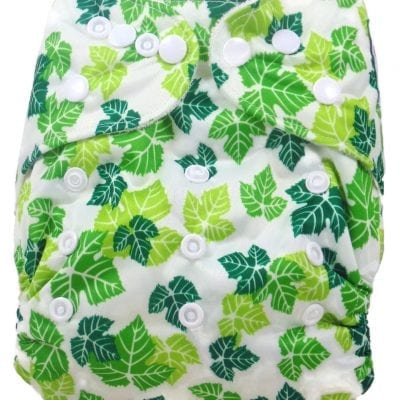 Leaf Collage Bamboo Pocket Cloth Diaper