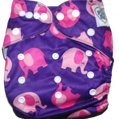 Escaping Elephants Polyester Pocket Cloth Diaper