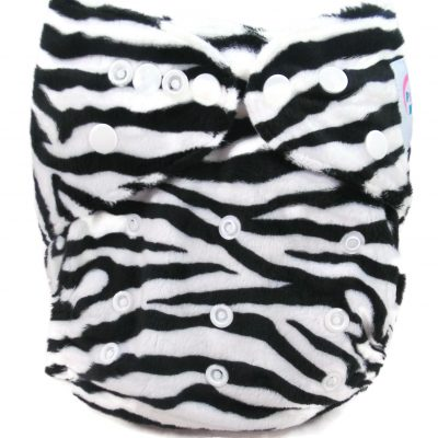 Zebra Print Polyester Pocket Cloth Diaper
