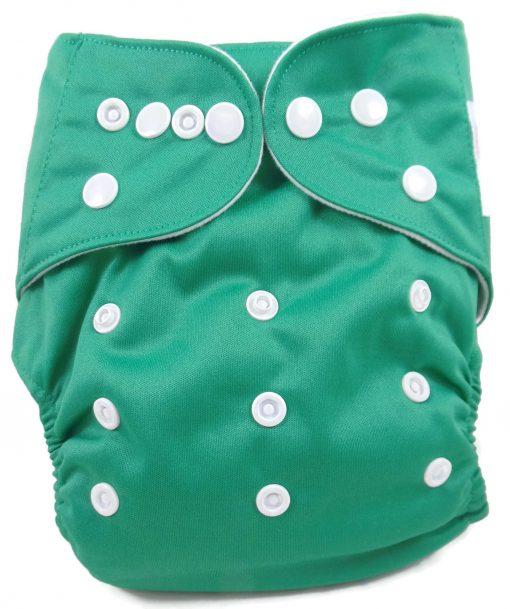 Pine Green Polyester Pocket Cloth Diaper