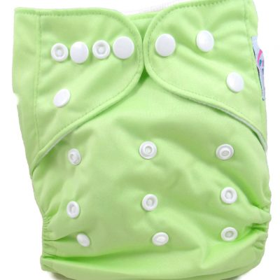 Pear Green Polyester Pocket Cloth Diaper