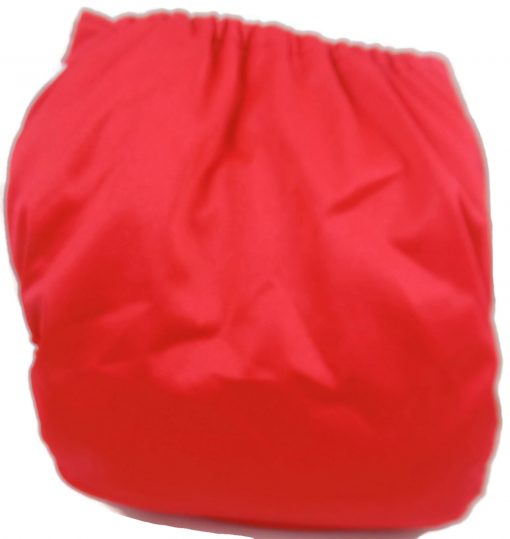 Cherry Red Polyester Pocket Cloth Diaper