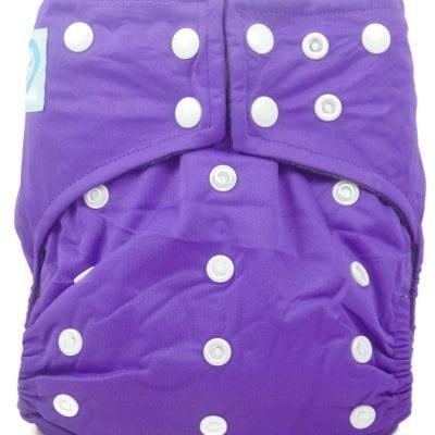 Grape Purple Hybrid Charcoal Bamboo Cloth Diaper