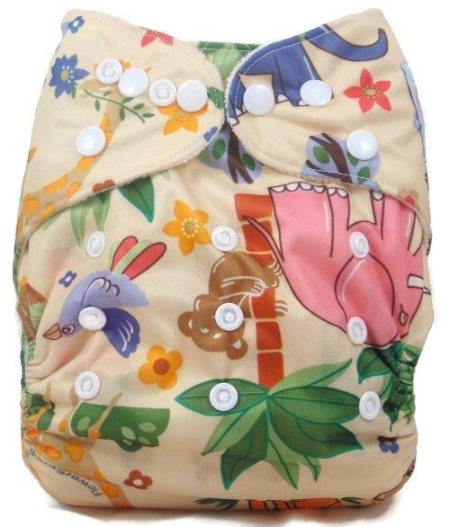 Jungle Friends Bamboo Pocket Cloth Diaper
