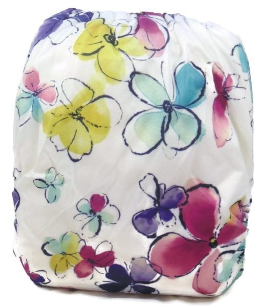Painted Flowers Bamboo Pocket Cloth Diaper