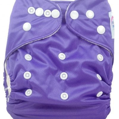 Grape Purple Bamboo Pocket Cloth Diaper