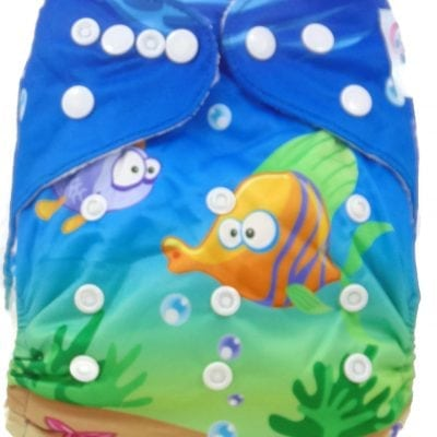 Underwater Fishies Bamboo Pocket Cloth Diaper