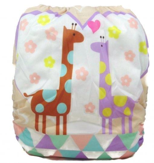 Lovely Giraffes Bamboo Pocket Cloth Diaper